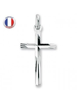 Croix argent diamantée