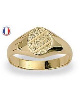 Chevalière Plaqué or - forme ovale
