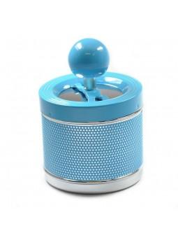 Cendrier à poussoir - Bleu azur