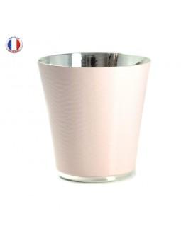 Timbale Crégut métal argenté - Laquée rose
