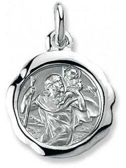 Médaille Argent Saint Christophe baroque