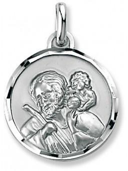 Médaille Argent Saint Christophe ronde