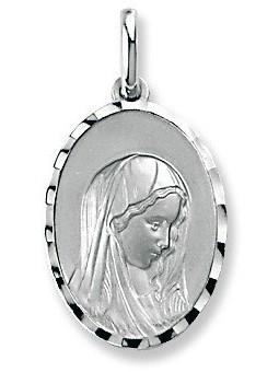 Médaille Argent Vierge ovale