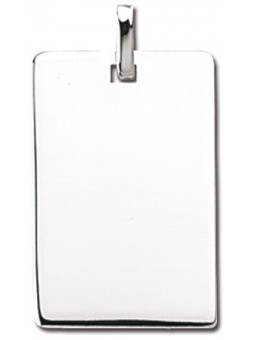 Pendentif Argent grand rectangle
