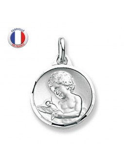 Médaille Argent ange et colombe