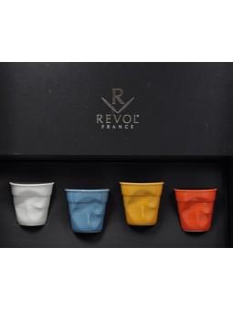 Coffret NOIR 4 ESPRESSO 8CL - REVOL - Collection Les Froissés