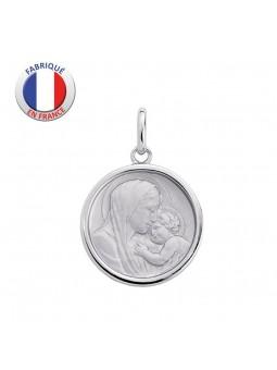 Médaille Vierge et l'enfant - Argent