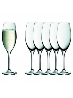 6 Flûtes à champagne WMF - 6 Verres haut de gamme