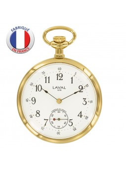 Montre de poche mécanique - Fabrication Française - Plaqué Or