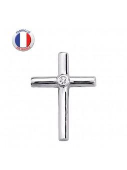 Croix argent - Pierre - Bâtonnet