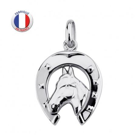 Fer à cheval pendentif argent massif - GL ALTESSE - Fabicant français