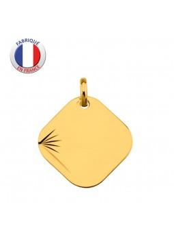 Médaille Laïque facettée - GL ALTESSE - Or 9 carats