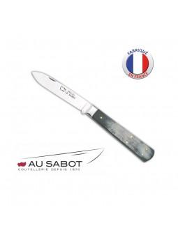 Couteau Le Pradel - AU SABOT - Manche corne AC 8,5 cm - Lame carbone
