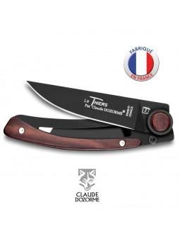 Couteau Liner Lock Laguiole - Claude Dozorme - Bois Vallernia - Revêtement Noire