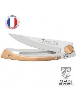 Couteau Liner Lock Le Thiers - Claude Dozorme - Bois d'Olivier