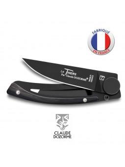 Couteau Liner Lock Le Thiers - Claude Dozorme - Corne Noire - Revêtement Noir