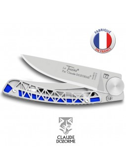 Couteau Liner Lock MADE IN FRANCE - Claude Dozorme - Manche style La Tour Eiffel