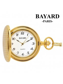 Montre de poche avec couvercle - BAYARD Paris - Laiton doré