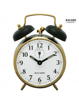 Réveil mécanique à cloches - Bayard - Doré et noir
