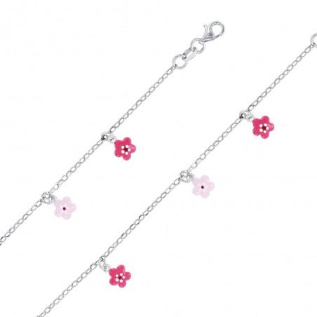 Bracelet enfant fleurs
