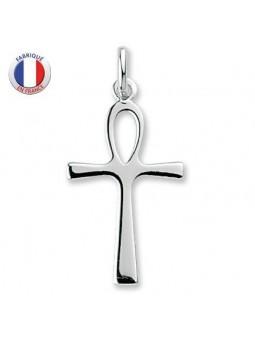 Croix de vie - argent rhodié