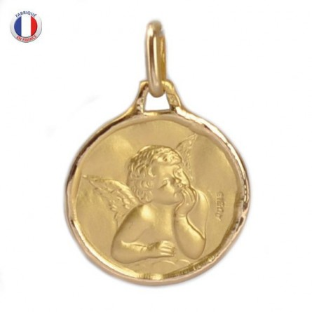 Médaille Ange Raphaël - Or 18 carats