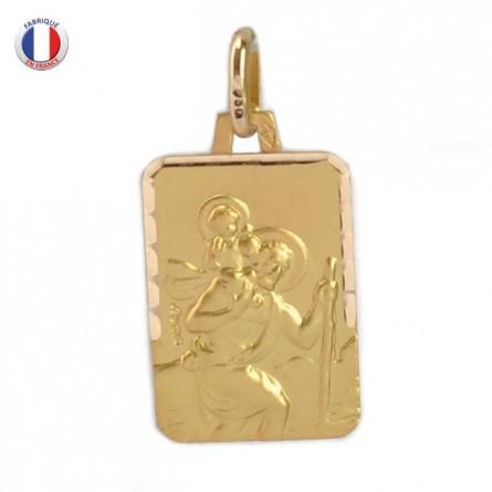 Médaille Augis Saint Christophe - Or 18 carats