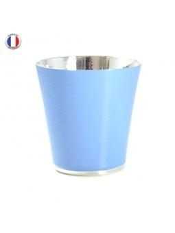 Timbale Crégut métal argenté - Laqué bleu