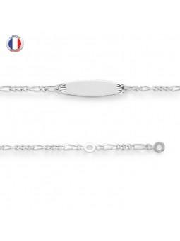 Gourmette bébé Argent 925/1000 - Maille figaro