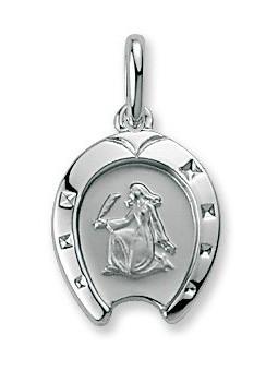 Médaille Argent Zodiaque fer à cheval Verseau