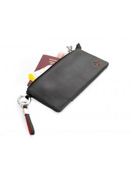 Pochette de voyage - noir / rouge