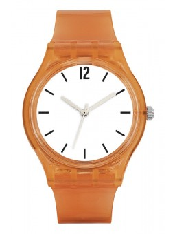 Montre à personnaliser - CRISTAL ORANGE