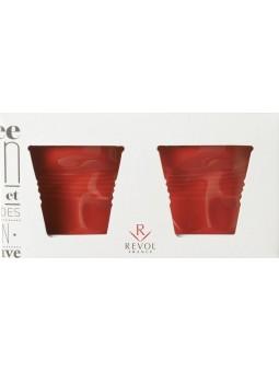 Coffret Rouge Piment 2 ESPRESSO 8CL - REVOL - Collection Les Froissés