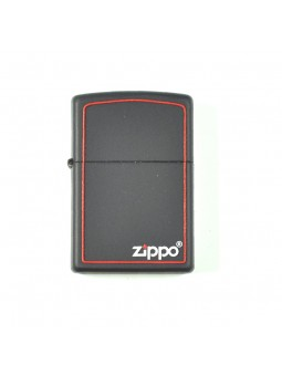 Zippo noir contour rouge - Personnalisation Recto-Verso