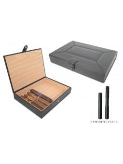 Cave à cigares de Voyage - Cuir noir