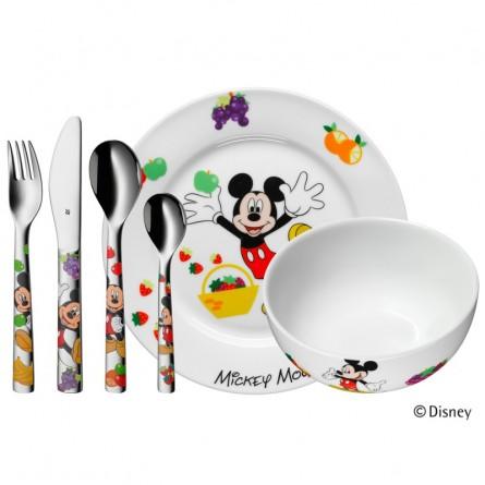 Couverts enfant Mickey Mouse - Assiette et bol en porcelaine - Art3Zem