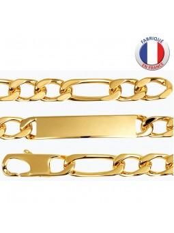Gourmette plaqué or - Maille alternée 2/1 - 8 mm