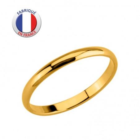 Alliance de mariage - GL ALTESSE - Plaqué Or -  Jonc 2 mm