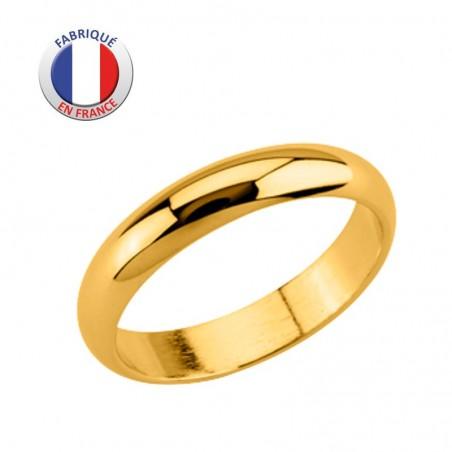 Alliance de mariage - GL ALTESSE - Plaqué Or -  Jonc 4 mm