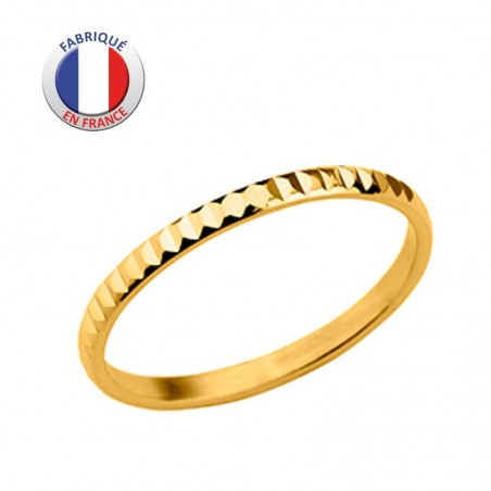Alliance diamantée plaqué or - GL ALTESSE - Fabrication France