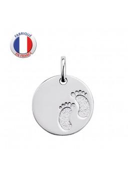 Médaille Empreinte Pieds  - GL ALTESSE - Argent rhodié