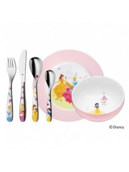 Coffret Couverts Disney Princesse - 6 pièces - Bol et assiette