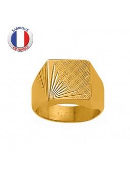 Chevalière plaqué or - ALTESSE - Fabrication Française