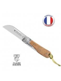 Couteau LONDON - Claude Dozorme - Bois Teck - Ancre Marine