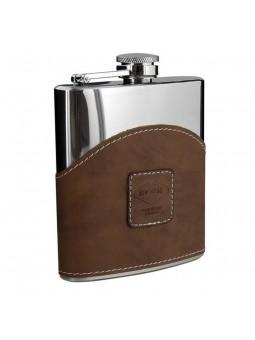 Flasque inox gainée façon cuir - 180 ml - Adventure Moutain Guides