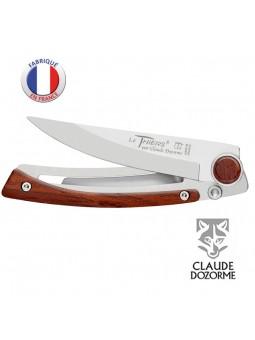 Couteau Liner Lock Laguiole - Claude Dozorme - Bois Vallernia