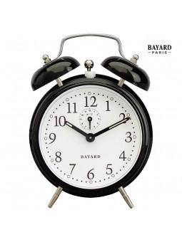 Réveil mécanique à cloches - Bayard - Laqué noir