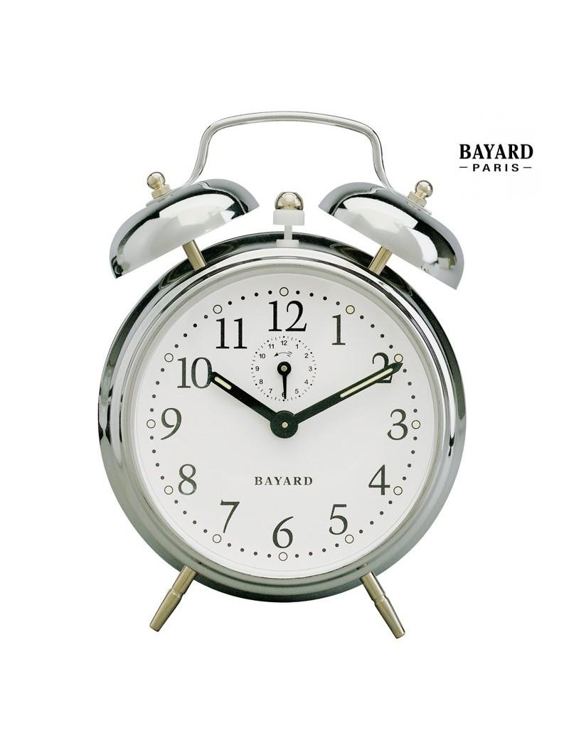 Réveil mécanique à cloches - Bayard - Cage métal