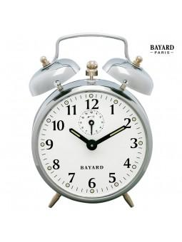 Réveil mécanique à cloches - Bayard - Chromé