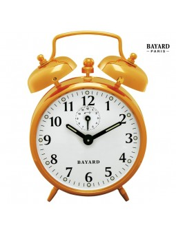 Réveil mécanique à cloches - Bayard - Cuivré